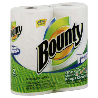 What is bounty paper towels made out of